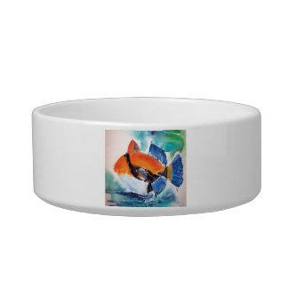 humu, pescado, Maui, Hawaii, tropical, colorida, o Tazón Para Agua Para Gatos
