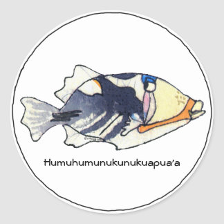 Humuhumunukunukuapua a Fish Sticker