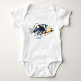 Humunuku Cartoon Fish Cute Custom Baby Bodysuit