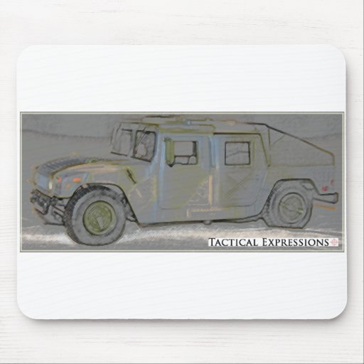 Humvee Colored Pencil Products Mouse Pad