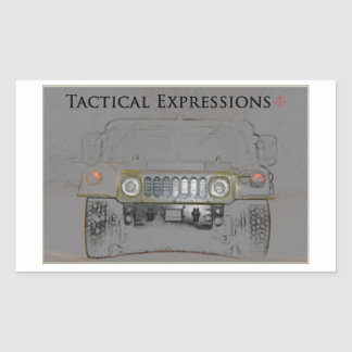 Humvee Colored Pencil Products Rectangular Sticker