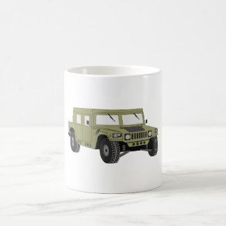 Humvee militar verde taza clásica