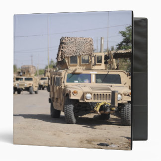 Humvee's conduct security during a patrol 3 ring binder