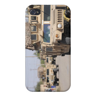Humvee's conduct security during a patrol iPhone 4 cases