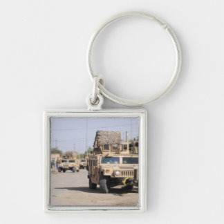 Humvee's conduct security during a patrol keychain