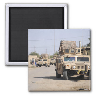 Humvee's conduct security during a patrol magnet
