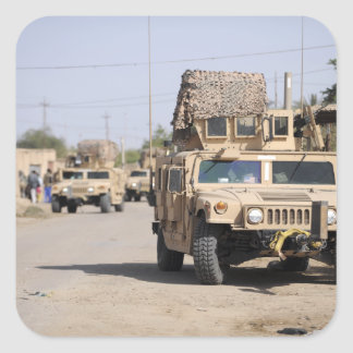 Humvee's conduct security during a patrol square sticker