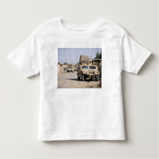 Humvee's conduct security during a patrol toddler t-shirt