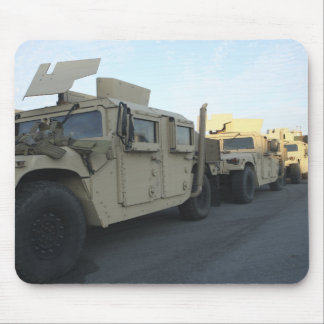 Humvees sit on the pier at Morehead City Mouse Pad