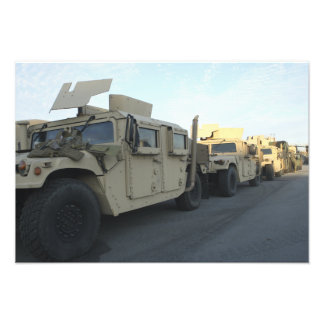 Humvees sit on the pier at Morehead City Photo Print