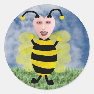 Hun E. Bee Etiquetas Redondas