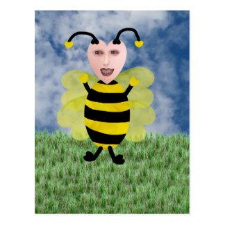 Hun E. Bee Postcard