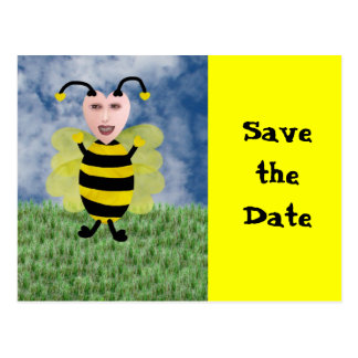 Hun E. Bee, Save the Date Postcard