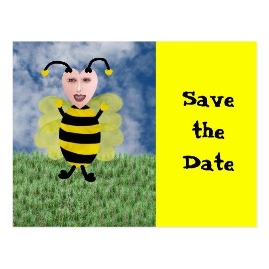 Hun E. Bee, Save the Date Postcard