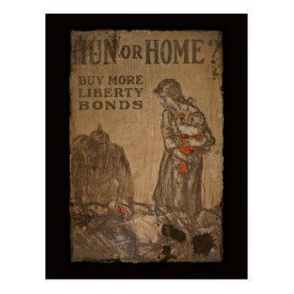 Hun or Home Buy Bonds WWI Post Card