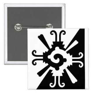 Hunab Ku-Black and White Pinback Button