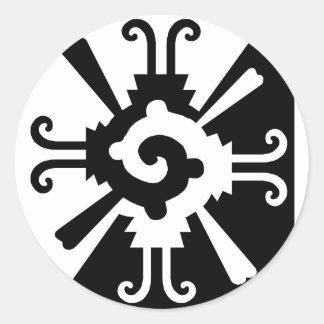 Hunab Ku-Black and White Classic Round Sticker