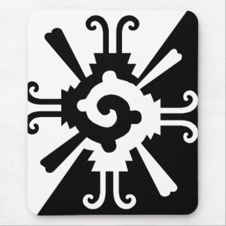 Hunab Ku-Black and White Mouse Pad
