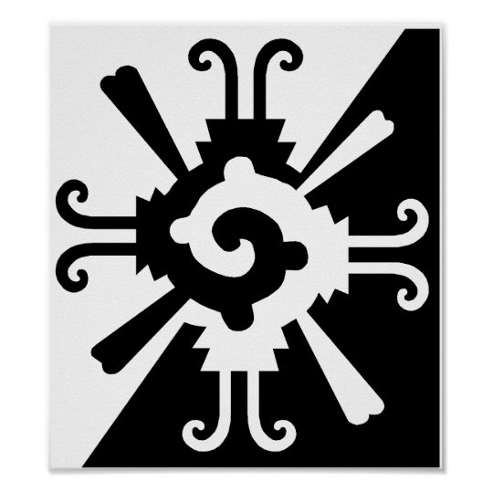 Hunab Ku-Black and White Poster