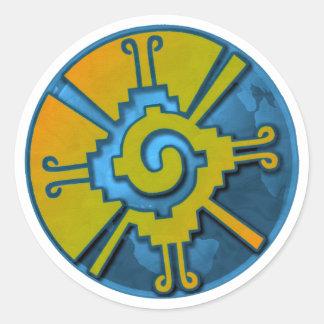Hunab Ku Earth Round Stickers