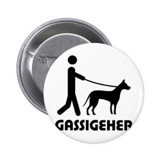 Hund del caminante del perro de Gassigeher Pins