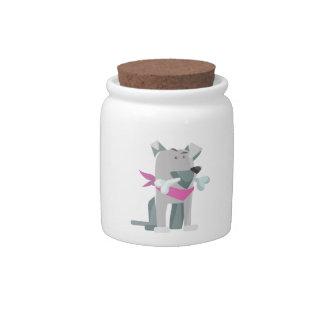 Hund Knochen dog bone Candy Jar