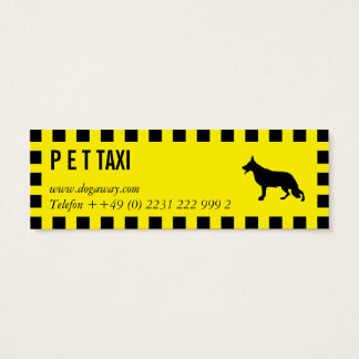 Hunde Taxi Mini Business Card