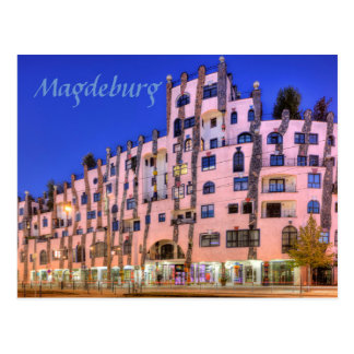 Hundertwasser in Magdeburg photo Postcard