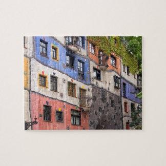Hundertwasser in Vienna photo Jigsaw Puzzle