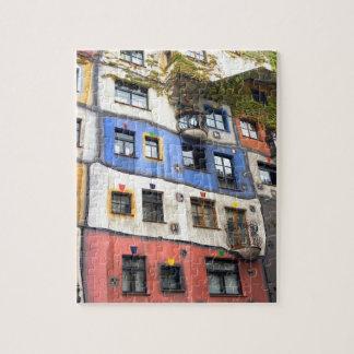 Hundertwasserhaus Vienna photo Jigsaw Puzzle