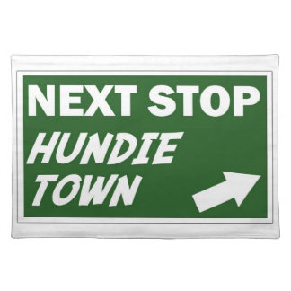 Hundie Town Placemat Cloth Placemat