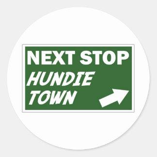 Hundie Town Sticker