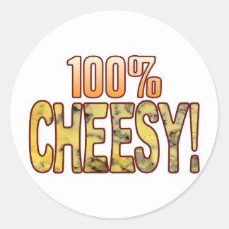 Hundred Blue Cheesy Classic Round Sticker