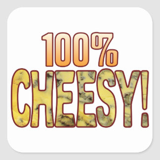 Hundred Blue Cheesy Square Sticker