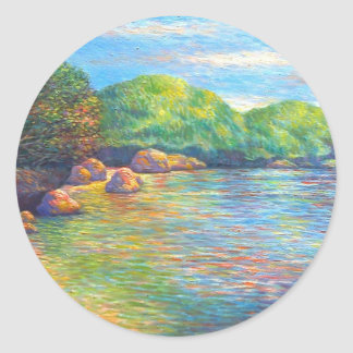 Hundred Islands, Philippines Classic Round Sticker