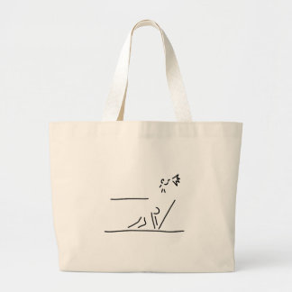 hundred-meter sprint track-and-field events start large tote bag