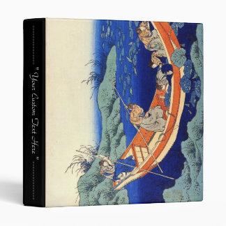 Hundred Poems Explained by the Nurse Hokusai 3 Ring Binder