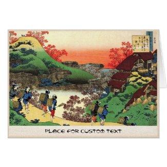 Hundred Poems Explained by the Nurse Hokusai Greeting Card