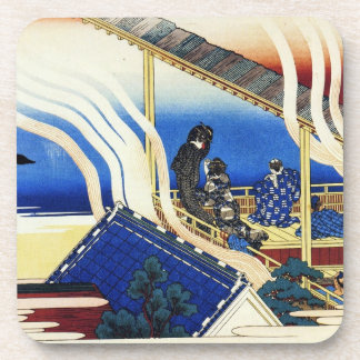 Hundred Poems Explained by the Nurse Hokusai Coaster