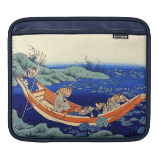 Hundred Poems Explained by the Nurse Hokusai iPad Sleeve