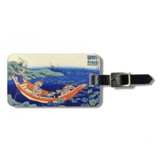 Hundred Poems Explained by the Nurse Hokusai Tag For Luggage