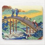 Hundred Poems Explained by the Nurse Hokusai Mouse Pad