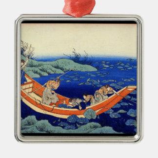 Hundred Poems Explained by the Nurse Hokusai Ornament