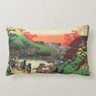 Hundred Poems Explained by the Nurse Hokusai Pillow