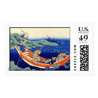 Hundred Poems Explained by the Nurse Hokusai Postage