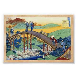 Hundred Poems Explained by the Nurse Hokusai Poster