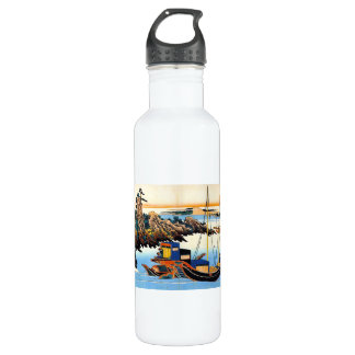 Hundred Poems Explained by the Nurse Hokusai Stainless Steel Water Bottle