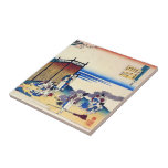Hundred Poems Explained by the Nurse Hokusai Ceramic Tiles