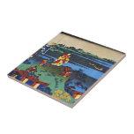 Hundred Poems Explained by the Nurse Hokusai Tiles