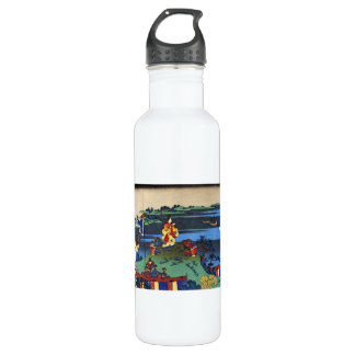 Hundred Poems Explained by the Nurse Hokusai Water Bottle